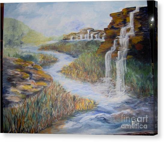 Canvas Print featuring the painting Cleansing by Saundra Johnson