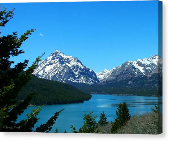 Clear Blue Lower Two Med Lake Canvas Print