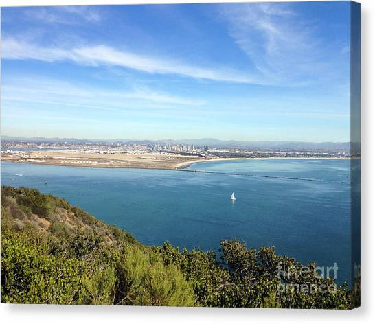 Clear Blue Sea Canvas Print