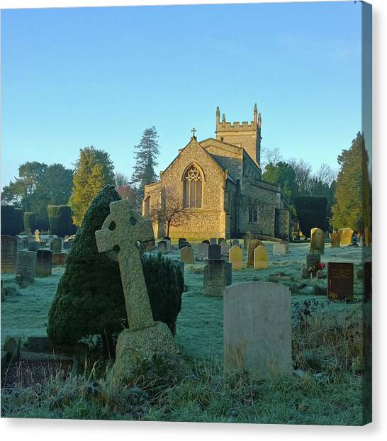 Clear Light In The Graveyard Canvas Print