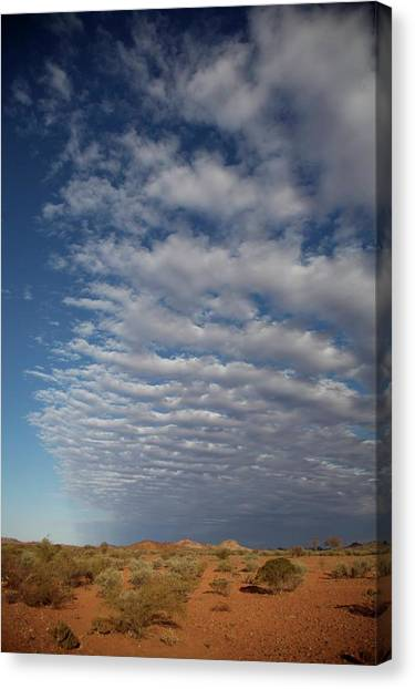 Clear Sky To Clouds Canvas Print by Lee Stickels