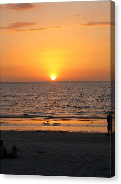 Clear Sunset Canvas Print