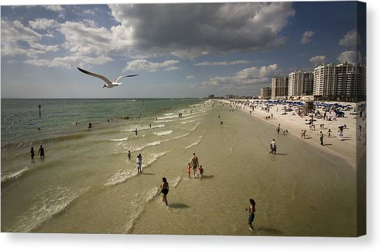 Clear Water Beach Canvas Print by Patrick Ziegler