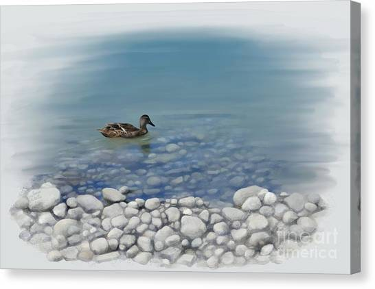 Canvas Print featuring the painting Clear Water  by Ivana Westin