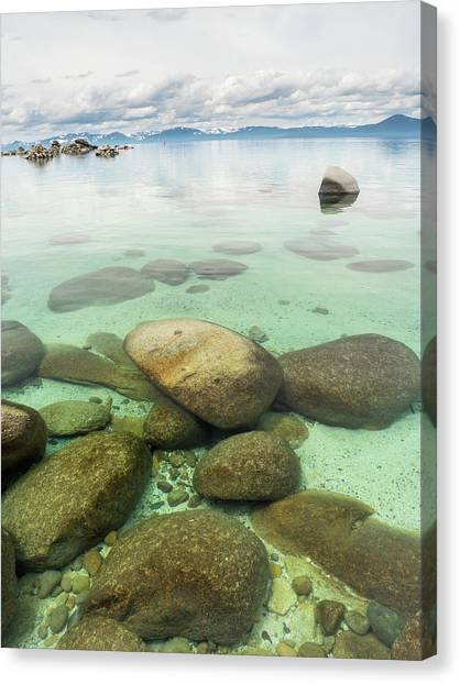 Clear Water, Stormy Sky Canvas Print
