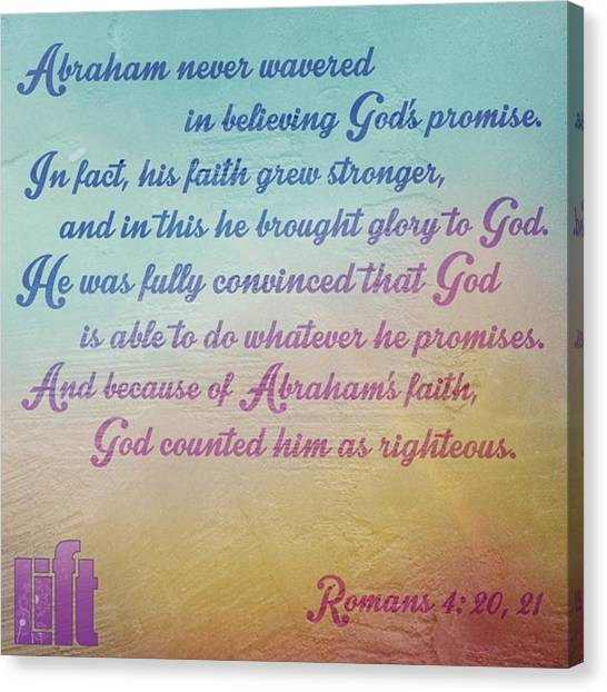 Design Canvas Print - Clearly, God's Promise To Give The by LIFT Women's Ministry designs --by Julie Hurttgam