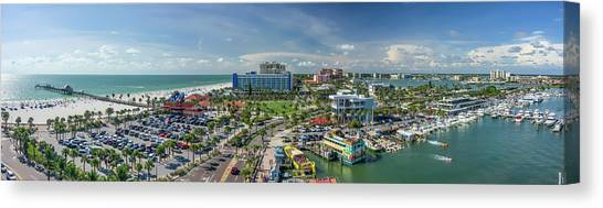 Canvas Print featuring the photograph Clearwater Beach Florida by Steven Sparks
