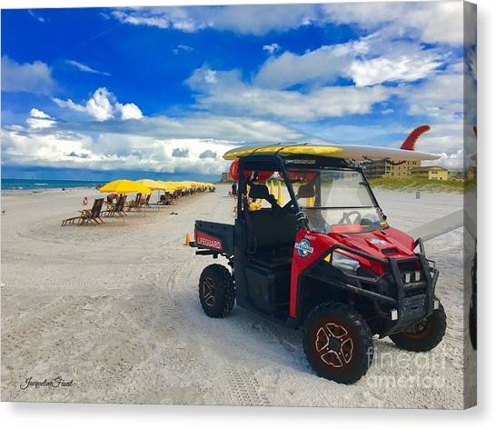 Clearwater Beach Lifeguard Atv Canvas Print