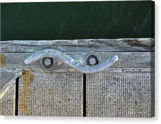 Cleat On A Dock Canvas Print