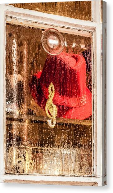 Clef And Hat Canvas Print