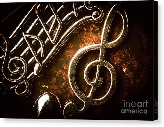 Notes Canvas Print - Clef Concert by Jorgo Photography - Wall Art Gallery