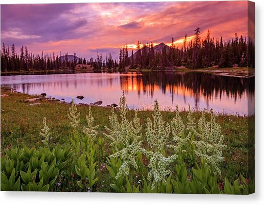 Uinta Canvas Print - Clegg Lake by Johnny Adolphson
