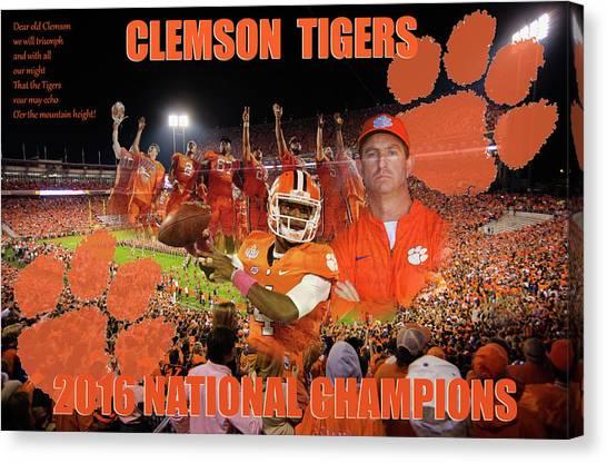 Clemson National Champs Canvas Print