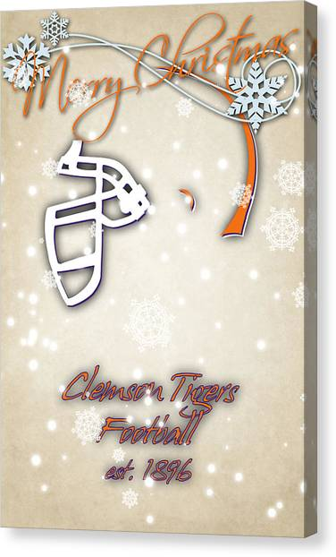 Clemson University Canvas Print - Clemson Tigers Christmas Card 2 by Joe Hamilton