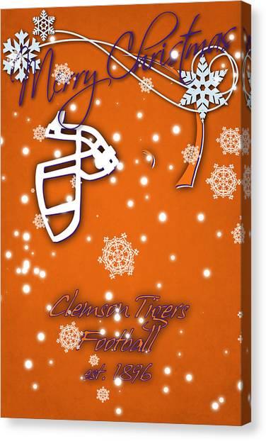 Clemson University Canvas Print - Clemson Tigers Christmas Card by Joe Hamilton