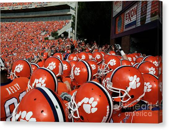 Clemson University Canvas Print - Clemson Tigers by Taylor C Jackson