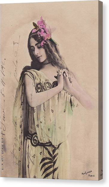 Merode Canvas Print - Cleo De Merode by Reutlingers