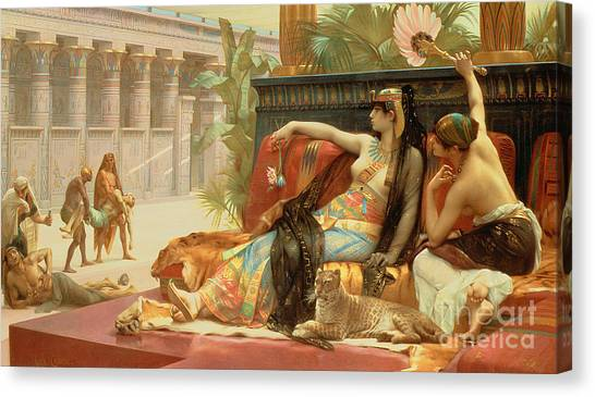 Egyptian Canvas Print - Cleopatra Testing Poisons On Those Condemned To Death by Alexandre Cabanel