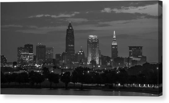 Cleveland After Dark Canvas Print