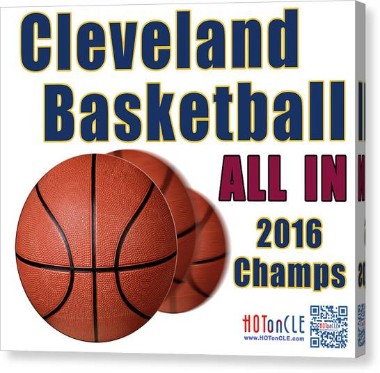 Kyrie Irving Canvas Print - Cleveland Basketball 2016 Champs All In by Mark Madere