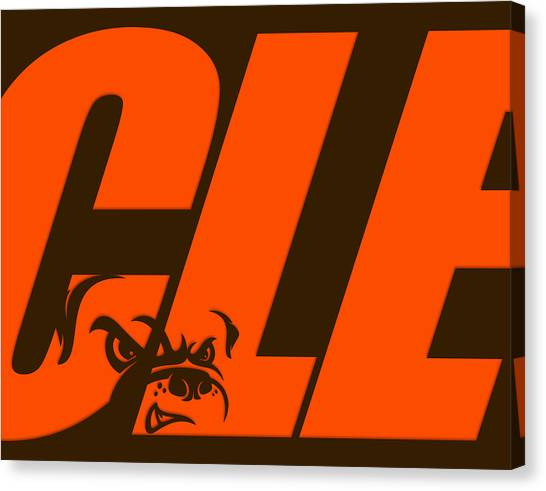 Cleveland Browns Canvas Print - Cleveland Browns City Name by Joe Hamilton