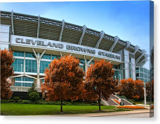 Cleveland Browns Canvas Print - Cleveland Browns Stadium by Kenneth Krolikowski