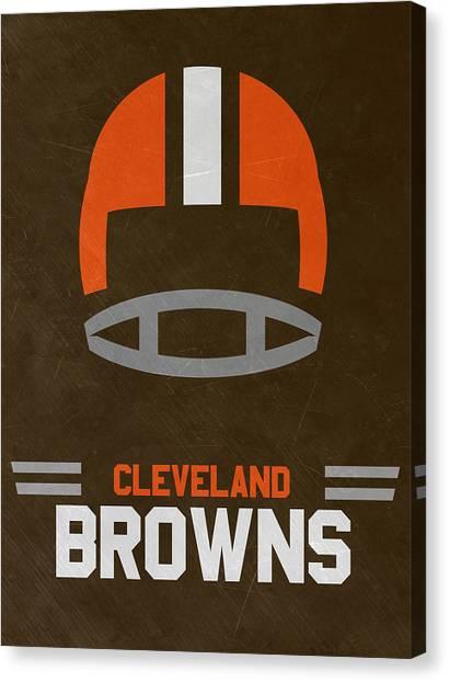 Cleveland Browns Canvas Print - Cleveland Browns Vintage Art by Joe Hamilton