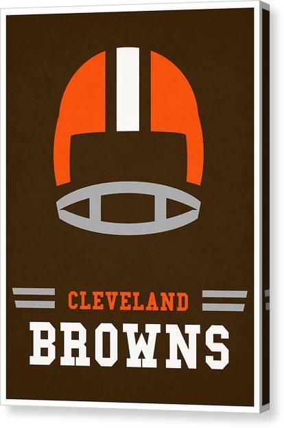 Cleveland Browns Canvas Print - Cleveland Browns Vintage Nfl Art by Joe Hamilton