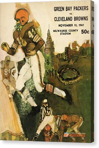 Cleveland Browns Canvas Print - Cleveland Browns Vintage Program 2 by Joe Hamilton