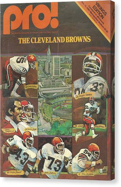 Cleveland Browns Canvas Print - Cleveland Browns Vintage Program 3 by Joe Hamilton