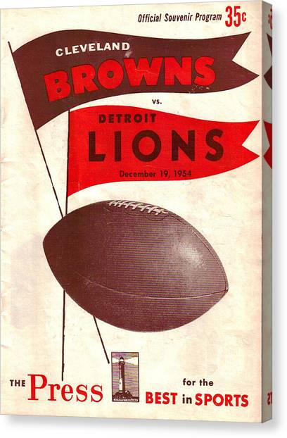 Cleveland Browns Canvas Print - Cleveland Browns Vintage Program 4 by Joe Hamilton