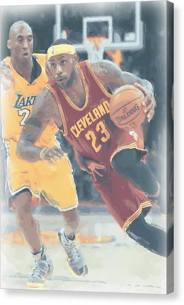 Lebron James Canvas Print - Cleveland Cavaliers Lebron James 3 by Joe Hamilton