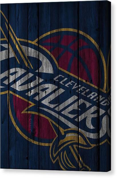 Cleveland Cavaliers Canvas Print - Cleveland Cavaliers Wood Fence by Joe Hamilton