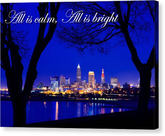 A Cleveland Christmas Canvas Print