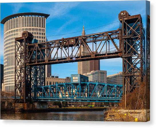 Cleveland City Of Bridges Canvas Print