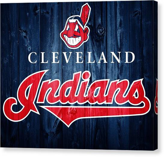 Cleveland Indians Barn Door Canvas Print
