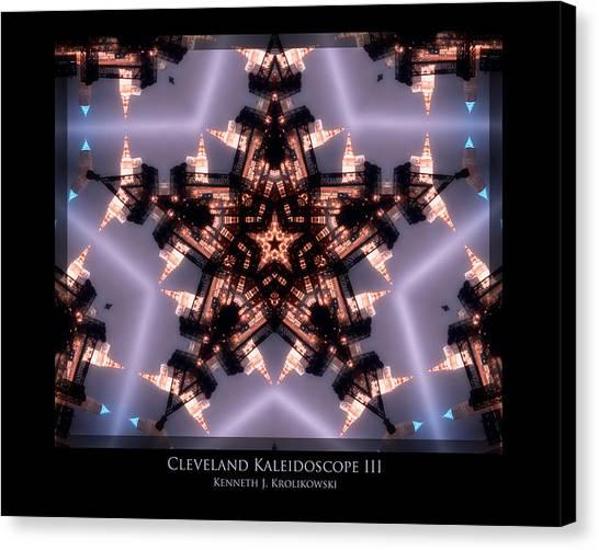 Cleveland Kaleidoscope IIi Canvas Print by Kenneth Krolikowski