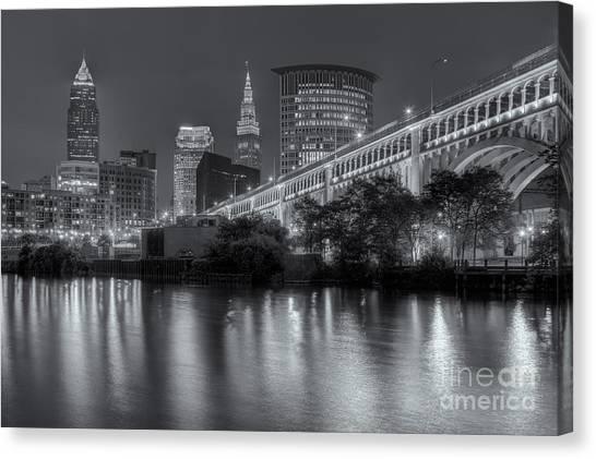 Cleveland Night Skyline IIi Canvas Print
