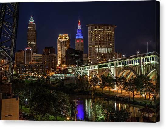 Cleveland Nightscape Canvas Print