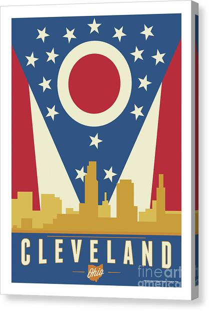 Ohio Valley Canvas Print - Cleveland - Ohio Burgee by Buckland Gillespie