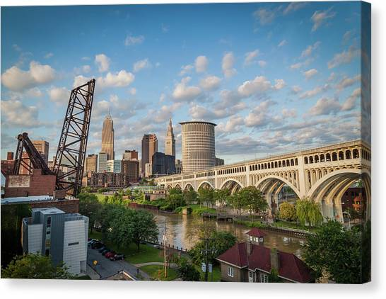 Cleveland Skyline Vista Canvas Print