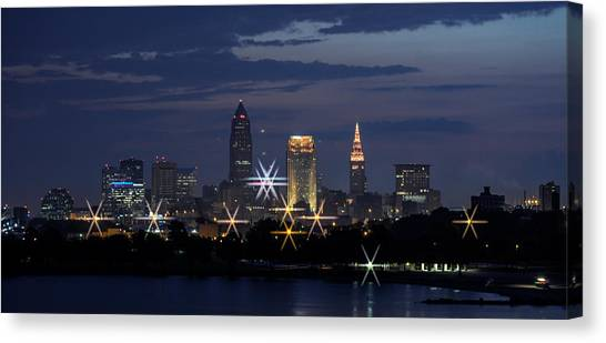 Cleveland Starbursts Canvas Print