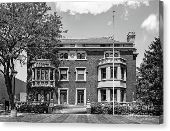 Cleveland State University Canvas Print - Cleveland State University Mather Mansion by University Icons