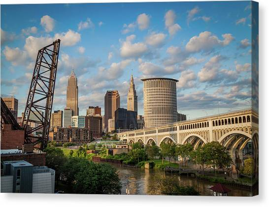 Cleveland Summer Skyline  Canvas Print