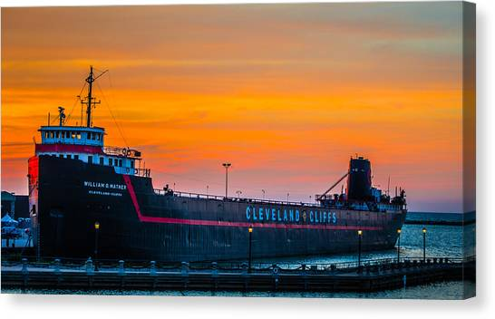 Cleveland Sunset Canvas Print