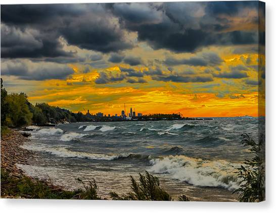 Cleveland Waves Canvas Print