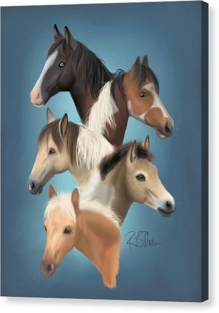 Ponies Canvas Print - Clg Buyback Herd by Rachael Ellis
