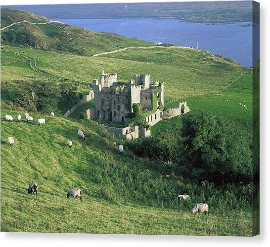 St. Patricks Day Canvas Print - Clifden Castle, Co Galway, Ireland 19th by The Irish Image Collection