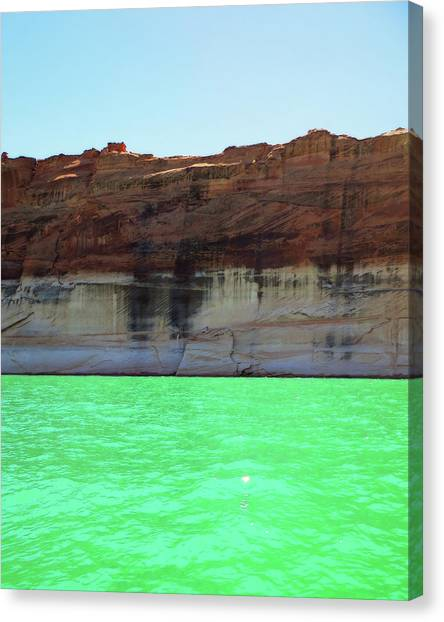 Canvas Print featuring the photograph Cliff At Lake Powell by Christopher Meade