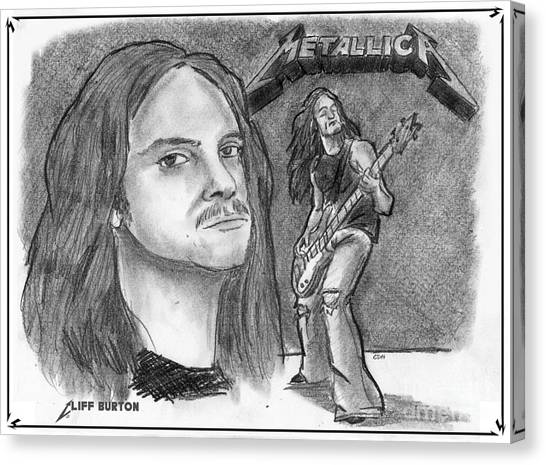 Cliff Burton Canvas Print - Cliff Burton by Chris  DelVecchio